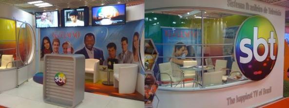 Stand do SBT na Mipcom em 2009