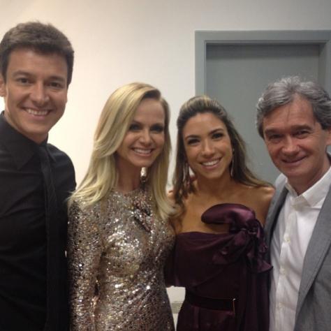 Rodrigo Faro, Eliana e Serginho Groisman foram um dos que marcaram presença no Troféu Imprensa