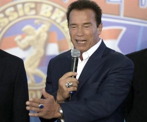 Arnold Schwarzenegger de passagem no Brasil