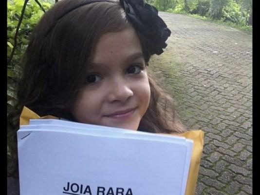 """Mel Maia durante as gravações de """"Joia Rara"""""""