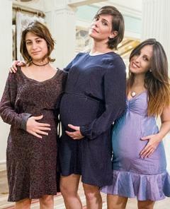 Bárbara, Giovana e Dorothy fazem parto no mesmo dia