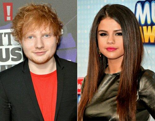 Selena Gomez e Ed Sheeran estariam ficando