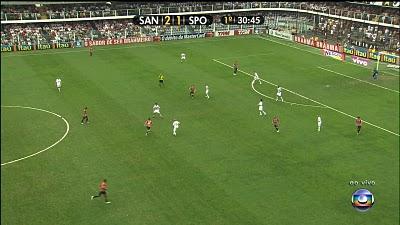 Transmissão de partida de futebol na Globo