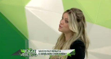 """Renata Fan se descontrola no """"Jogo Aberto"""" após derrota de seu time do coração"""