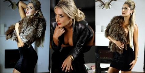 Aline Rodrigues, eleita uma das 100 mulheres mais sexy pela revista VIP, realiza ensaio ousado