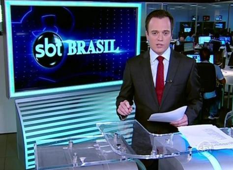 SBT Brasil sendo apresentado direto da redação