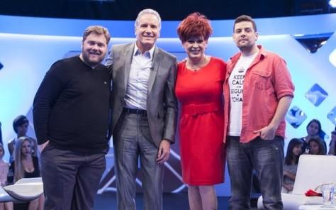 Roberto Justus recebe os humoristas Ben Ludmer, Fábio Lins e Nanny People